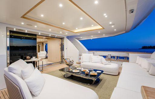 katia yacht alfresco dining area