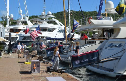 brokers step aboard superyachts at the Antigua Charter Yacht Show