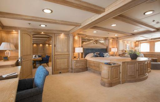 Master suite onboard MY Nero