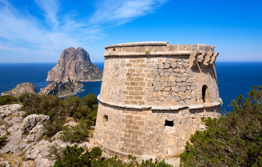 looking out to see from Es Vedra in Ibiza