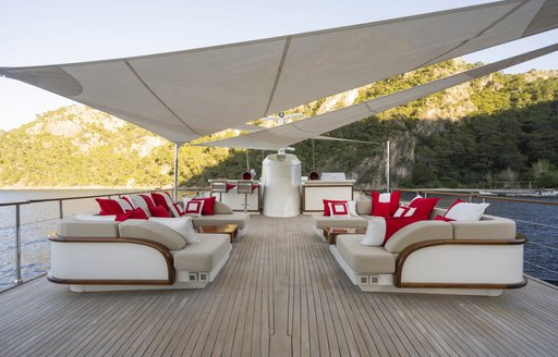 outdoor areas onboard alhambra motor yacht