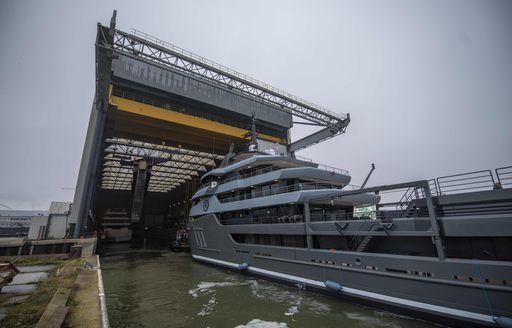 RAGNAR explorer yacht comes out of shed