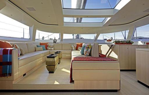 A social space onboard sailing yacht GANESHA