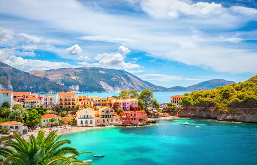 Picturesque village of Assos in Kefalonia, Greece