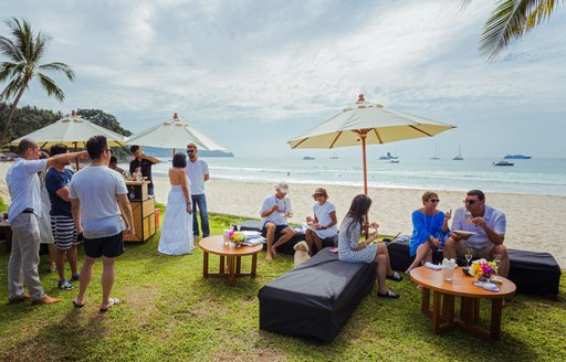 show attendees socialize at the Kata Rocks Superyacht Rendezvous 2017