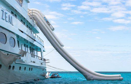 Inflatable slide onboard MY Zeal