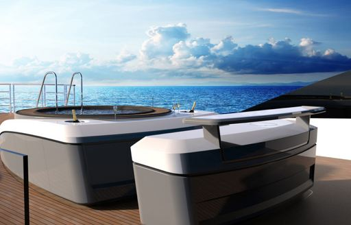 spa pool on board charter yacht SOLO