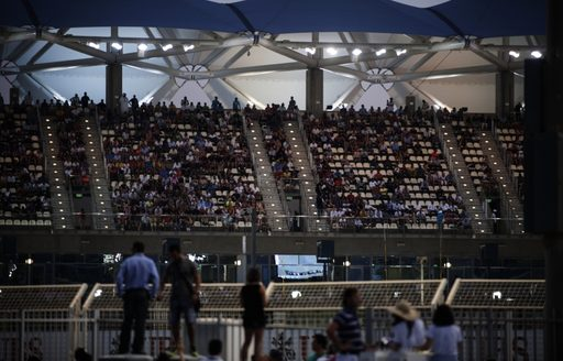 Stands filling up during 2013 Abu Dhabi Grand Prix
