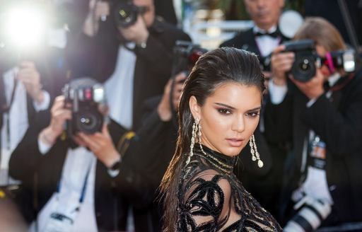 kendall jenner being photographed on red carpet at cannes film festival