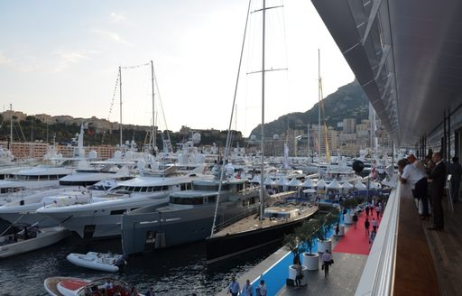 View of the MYS 2014 from the new Yacht Club