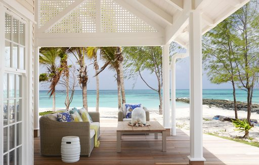 terrace of villa suites on thanda island