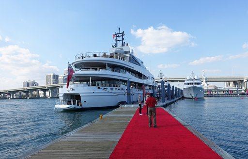 superyacht docked at superyachts miami