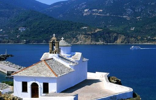 Skopelos island in the Sporades, Greece