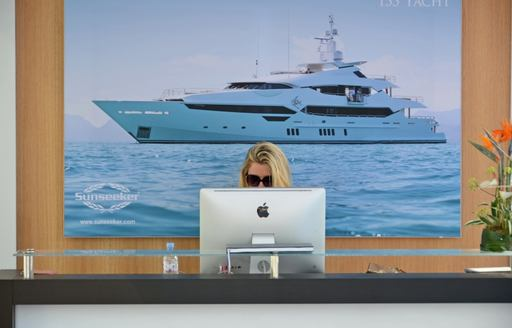 Sunseeker stand at the Monaco Yacht Show