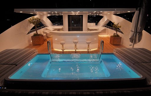 pool and bar on luxury yacht baba's