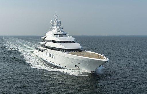 Lurssen luxury yacht MADSUMMER underway