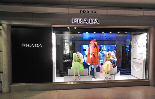 branch of designer clothes shop prada in monaco