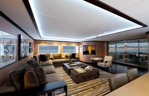 superyacht SOFIA 3's main salon