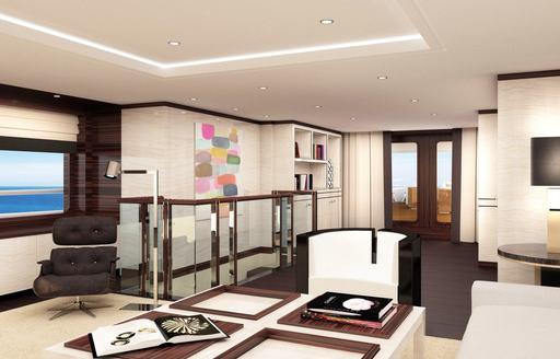 interiors of luxury superyacht galene