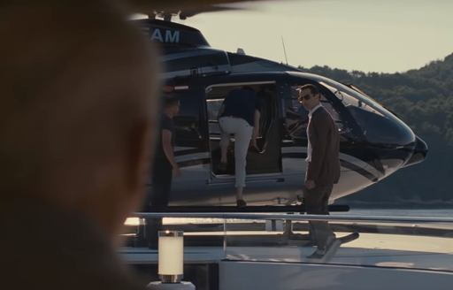 Kendall from SUCCESSION leaves superyacht SOLANDGE during season 2 finale