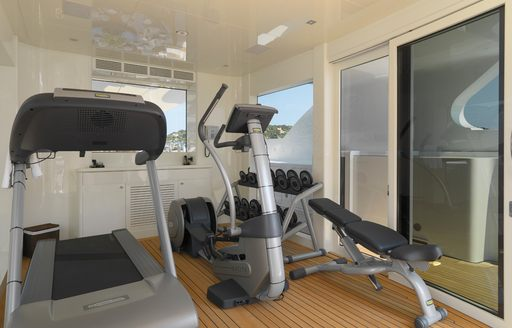 Gym onboard MY Meamina