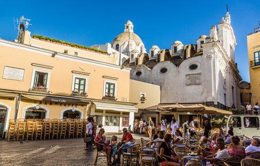 The main square of Capri called 'la piazzetta'