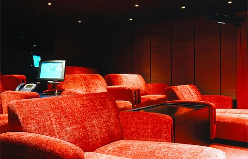 Luxurious cinema onboard MY Octopus