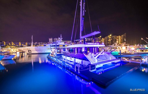 Yachts berthed at the Singapore Yacht Show 2016