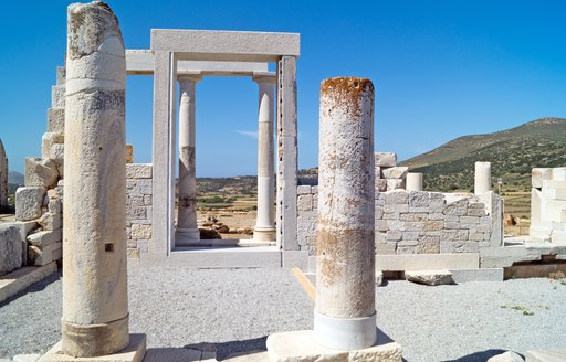 Ionic columns of temple of demeter