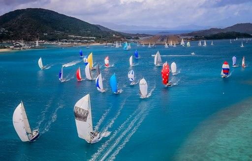 colourful sails bring the Hamilton Island waters to life at the Audi Hamilton Island Race Week