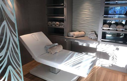 reclining massage chairs on o'pari yacht