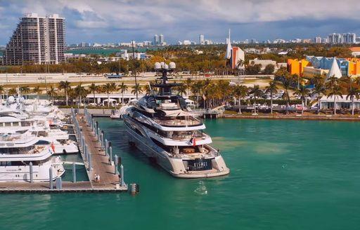 kismet docks for superyacht miami