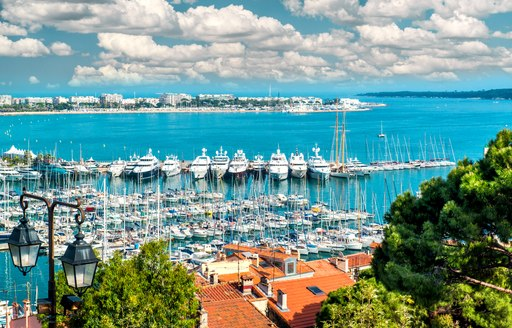 Cannes makes a beautiful setting for a superyacht show