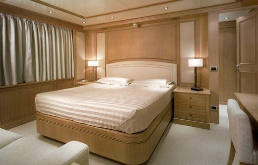 elegant cabin on board motor yacht FERDY