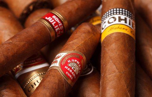 A handful of Cuban cigars