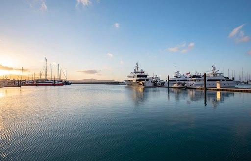 Luxury yacht marina in the Whitsunday islands, Australia