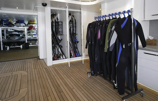 dive centre on luxury yacht wheels