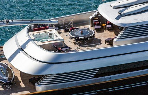 Superyacht maltese falcons exterior decks