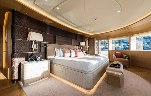 Cabin on motor yacht Here Comes the Sun