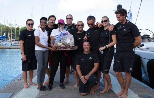 Crew of 'Lupa of London' after winning the RORC Transatlantic Race