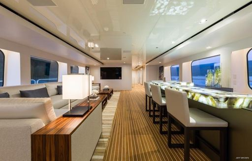 The interior luxury yacht CHASSEUR
