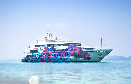 Superyacht Saluzi cruising on charter in Asia waters