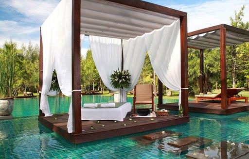 Sarojin Spa outdoor area in Thailand