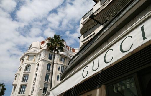 Gucci store along Boulevard de la Croisette in Cannes, France