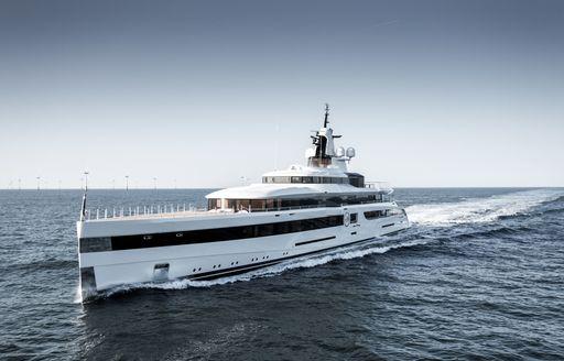 Luxury superyacht Lady S underway