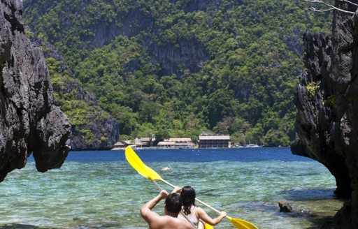 Kayaking in the South Pacific
