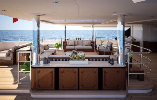 Benetti luxury yacht SPECTRE main deck dining and communal area