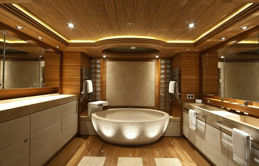 owners cabin on board luxury yacht naia