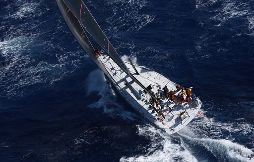 sailing yacht WIZARD in action at the RORC Caribbean 600