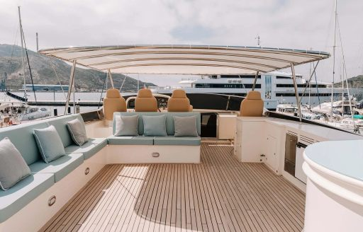 exterior spaces astondoa yacht charter